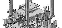 Screenshot aus CATIA V5 während der Konstruktion einer Niederdruckkokille.