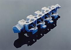 Mit obenstehendem Werkzeug, im COLDBOX-Verfahren, hergestellter Wassermantelkern.