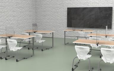 Klassenzimmer Plexiglas Tischaufsteller.10